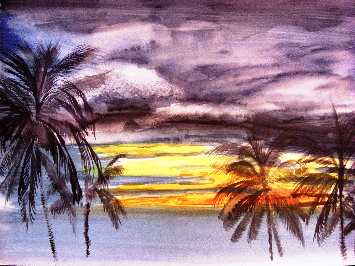 sunset-palms